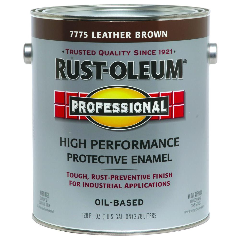 Rust-Oleum Professional 1 gal. Leather Brown Gloss Protective Enamel (Case of 2)