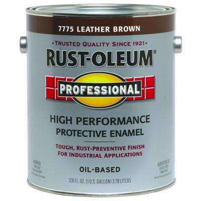 1 gal. High Performance Protective Enamel Gloss Leather Brown Oil-Based Interior/Exterior Industrial Paint (2-Pack)