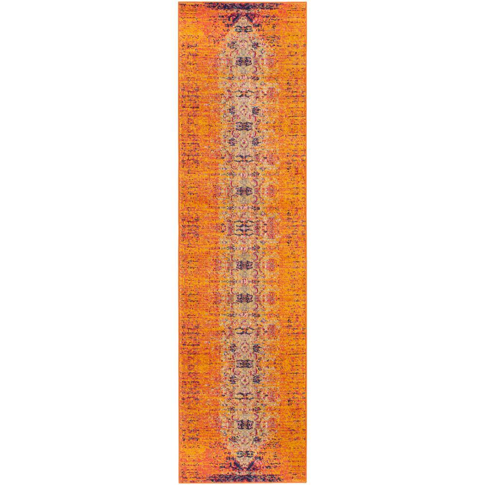 Monaco Orange/Multi 2 ft. x 12 ft. Runner Rug