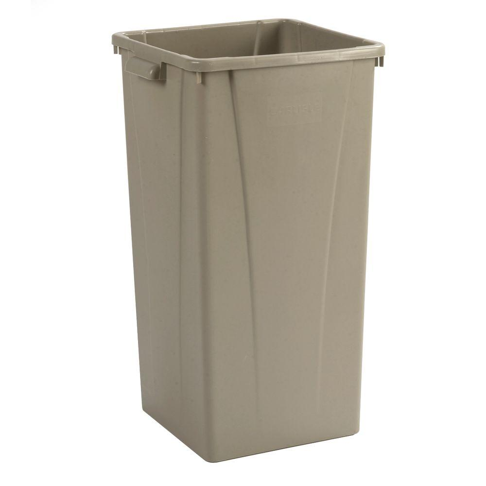 Carlisle Centurian 23 Gal Beige Square Trash Can 4 Case