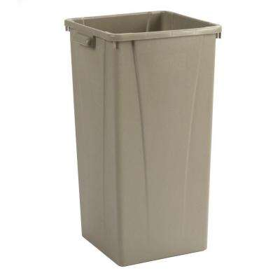 Centurian 23 Gal. Beige Square Trash Can (4-Case)