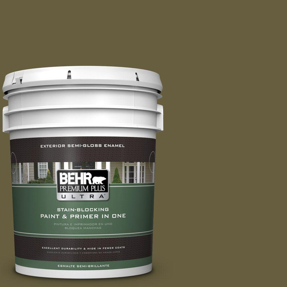 5-gal. #ICC-88 Classic Olive Semi-Gloss Enamel Exterior Paint