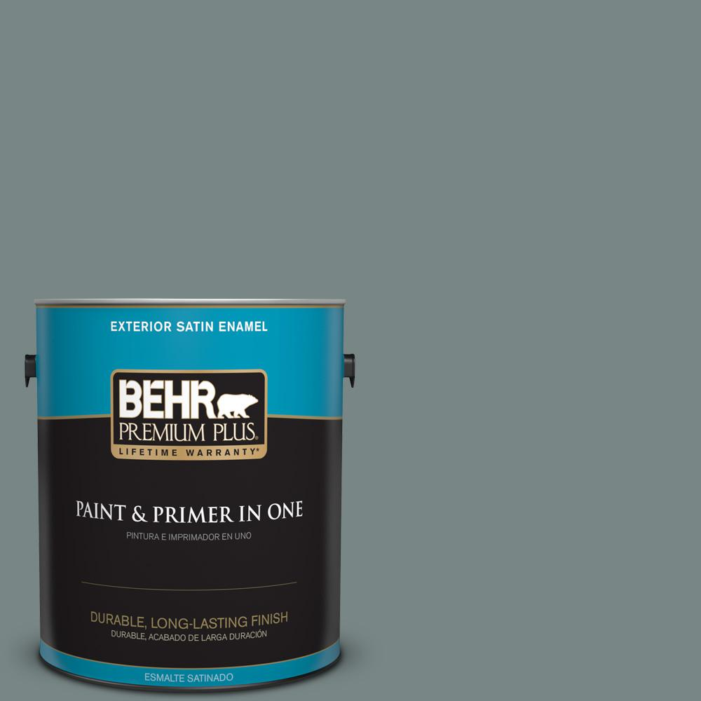 1 gal. #PPU12-16 Juniper Ash Satin Enamel Exterior Paint