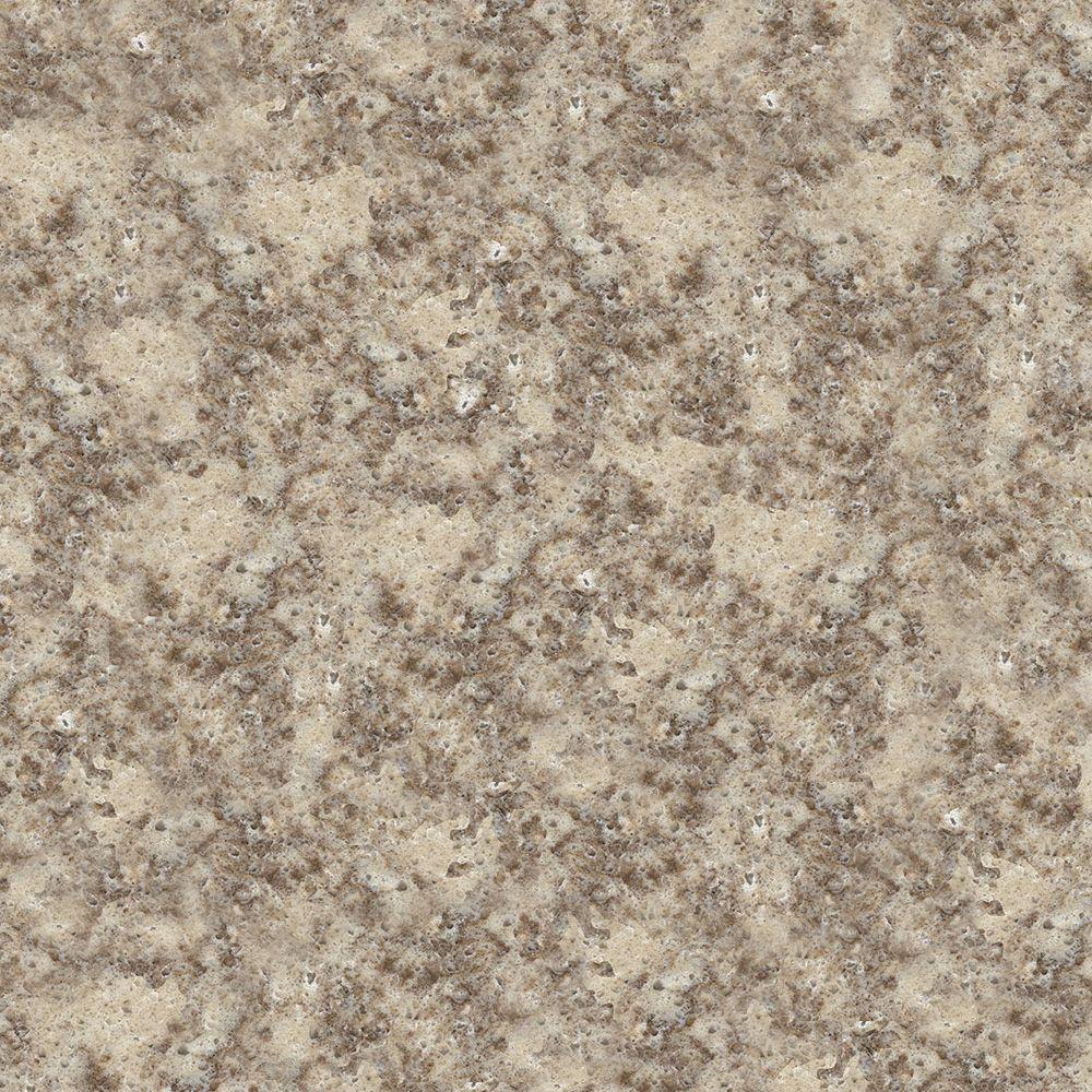 4 in. x 4 in. Natural Quartz Vanity Top Sample in Khaki Cream