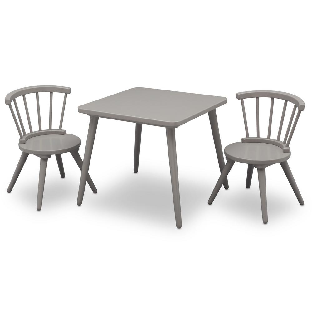Grey Windsor Table And 2 Chair Set Delta Children