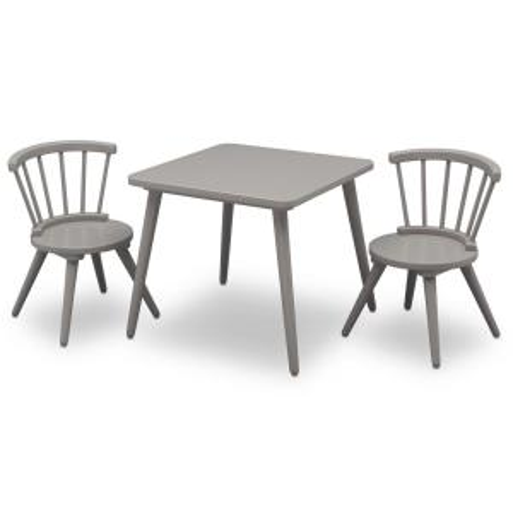 Stupendous Delta Children Grey Windsor Table And 2 Chair Set 531300 026 Frankydiablos Diy Chair Ideas Frankydiabloscom