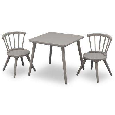 Grey Windsor Table and 2-Chair Set