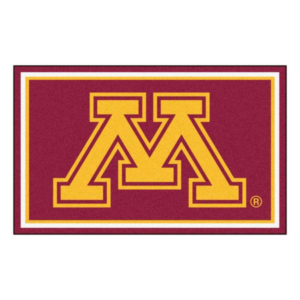 Fanmats Ncaa University Of Minnesota Red 6 Ft X 4 Ft Indoor Area Rug 14003 The Home Depot