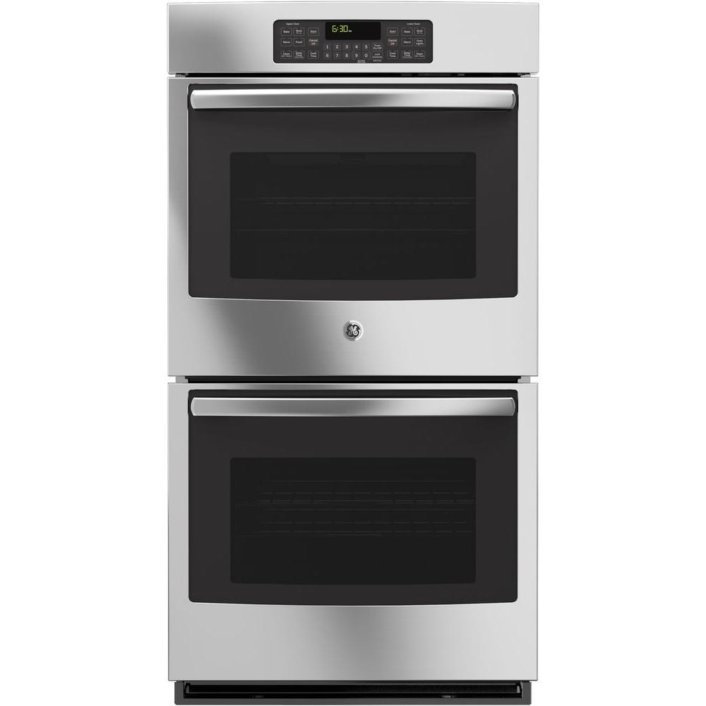 Large Built In Double Oven Part - 24: Double Electric Wall Oven Self-Cleaning With Steam In Stainless  Steel-JK3500SFSS - The Home Depot