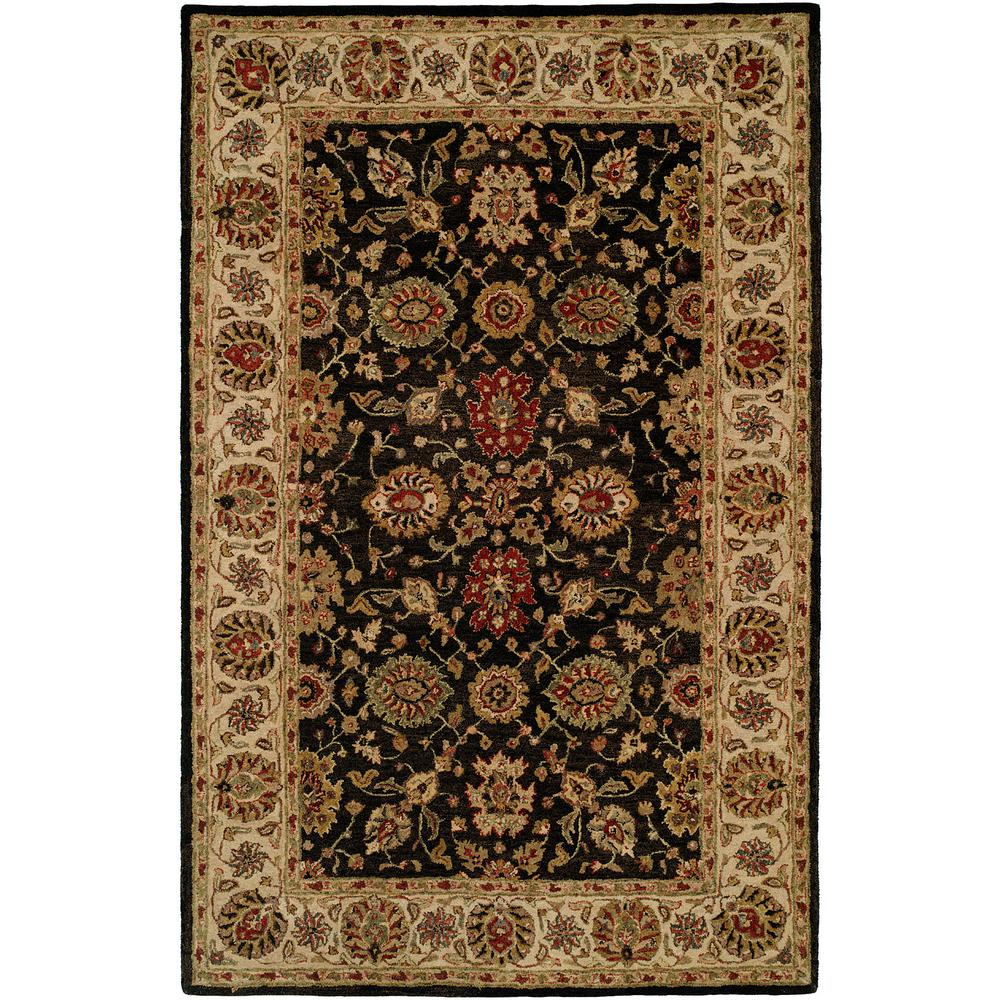 Empire Black/Ivory 2 ft. x 3 ft. Area Rug