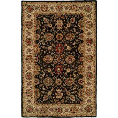 Empire Black/Ivory 4 ft. x 6 ft. Area Rug