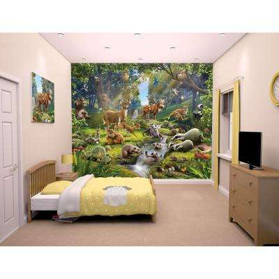 96 in. H x 120 in. W Animals of the Forest Wall Mural