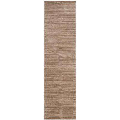Vision Light Brown 2 ft. 2 in. x 12 ft. Runner Rug