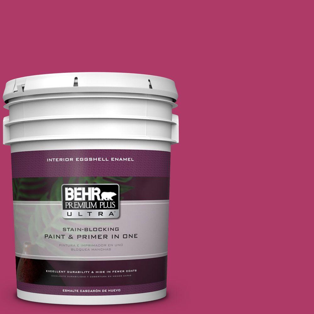 5 gal. #HDC-SM16-04 Bing Cherry Pie Eggshell Enamel Interior Paint