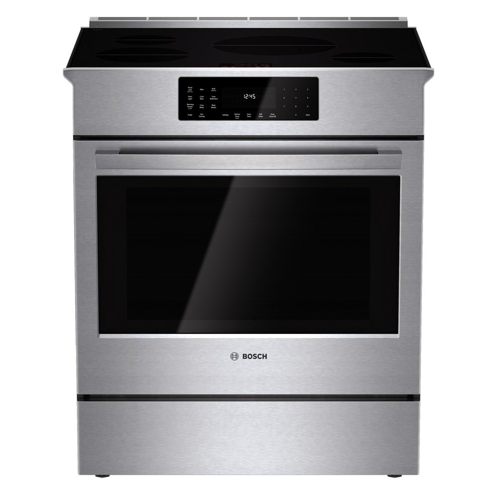 Attirant Bosch 800 Series 30 In. 4.6 Cu. Ft. Slide In Induction Range