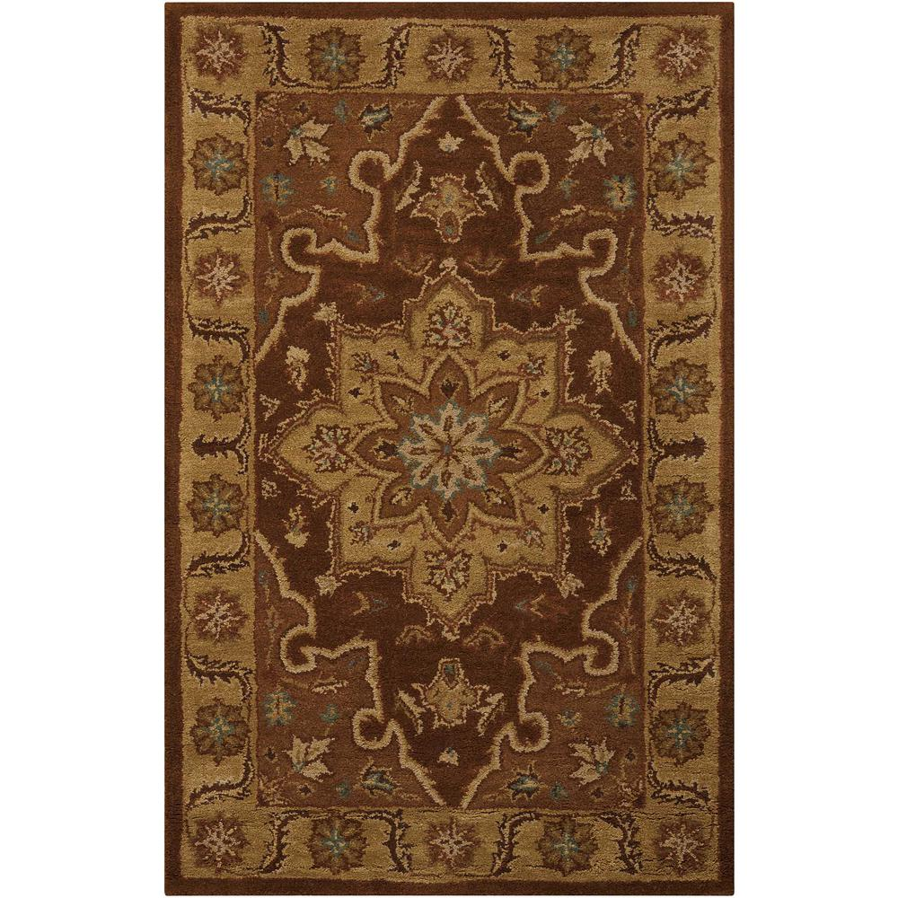 Nourison India House Chocolate 3 ft. 6 in. x 5 ft. 6 in. Area Rug