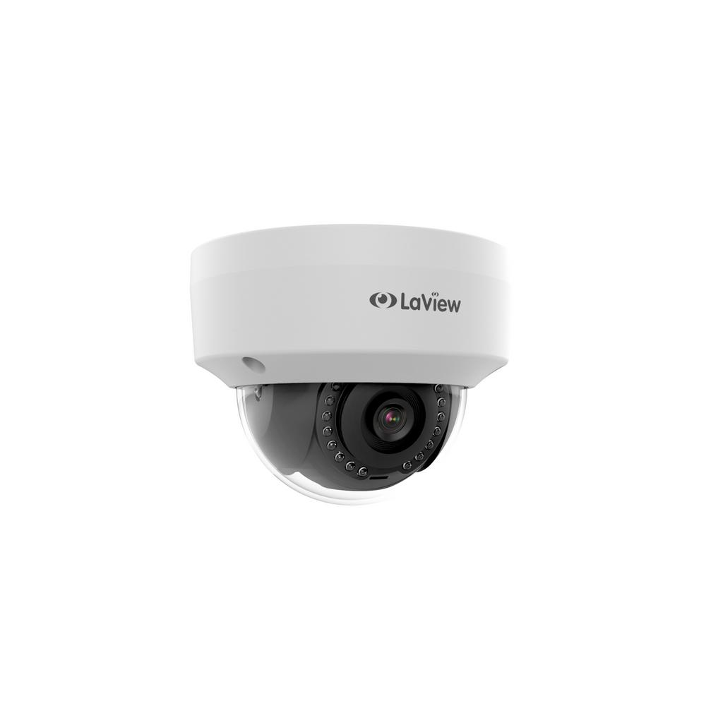 LaView Indoor Outdoor 1080p Dome Ceiling 2MP IP Network Vandal Proof Security Camera with 100 ft. Night Vision ONVIF Compliant