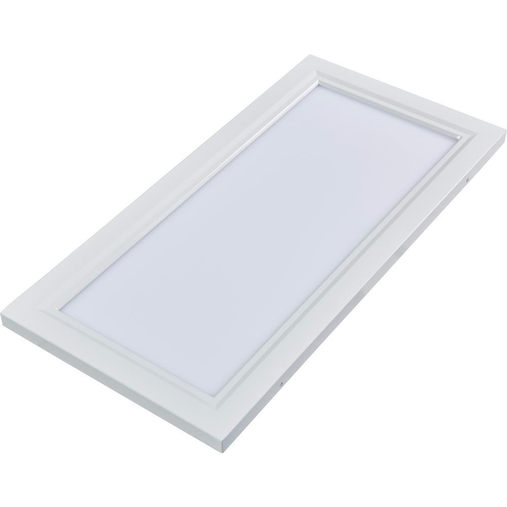 1 ft. x 2 ft. White Dimmable Edge-Lit 22-Watt 4000K Integrated LED Flat Panel Flushmount