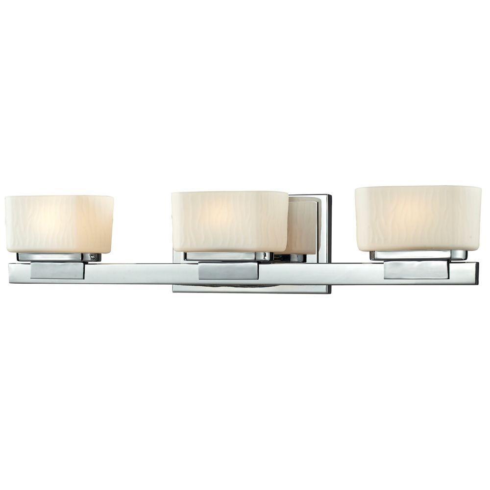 Terra 3-Light Chrome Bath Vanity Light