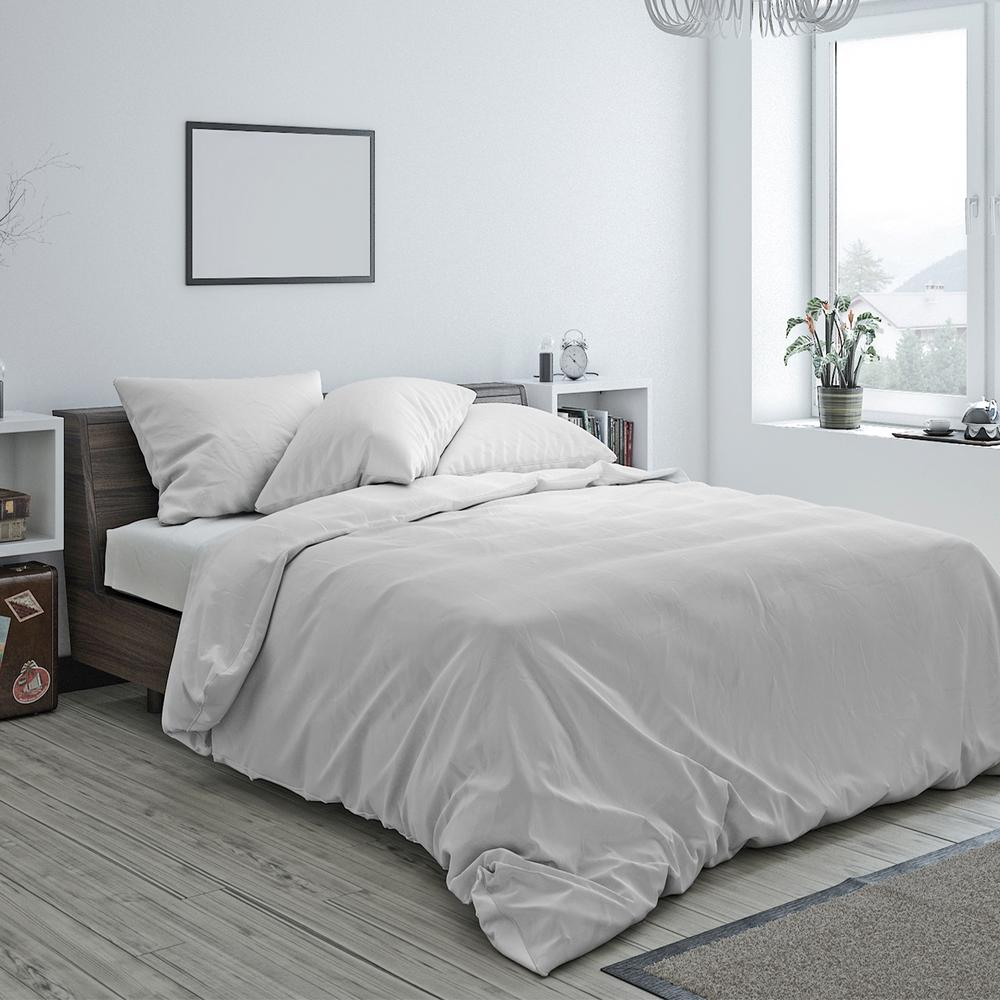 Heritage Cotton Duvet Mist Grey Twin