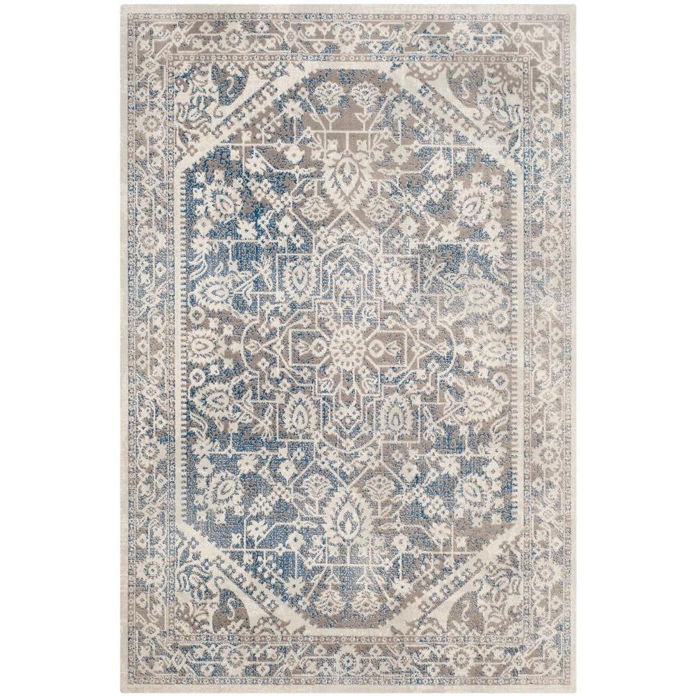Safavieh Patina Gray Blue 4 Ft X 6 Ft Area Rug Ptn318a 4