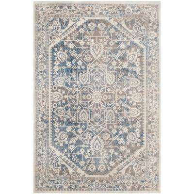 Patina Gray/Blue 4 ft. x 6 ft. Area Rug