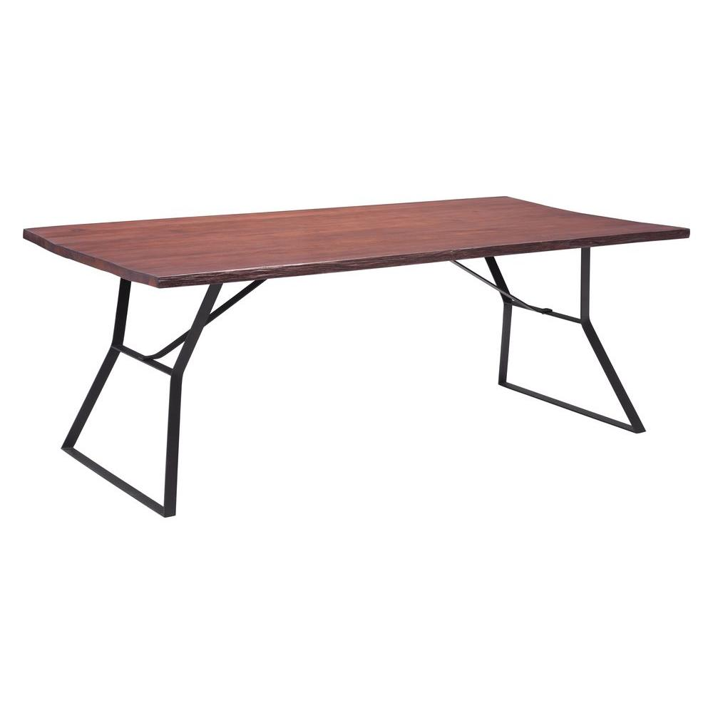 Zuo Omaha Distressed Cherry Oak Dining Table
