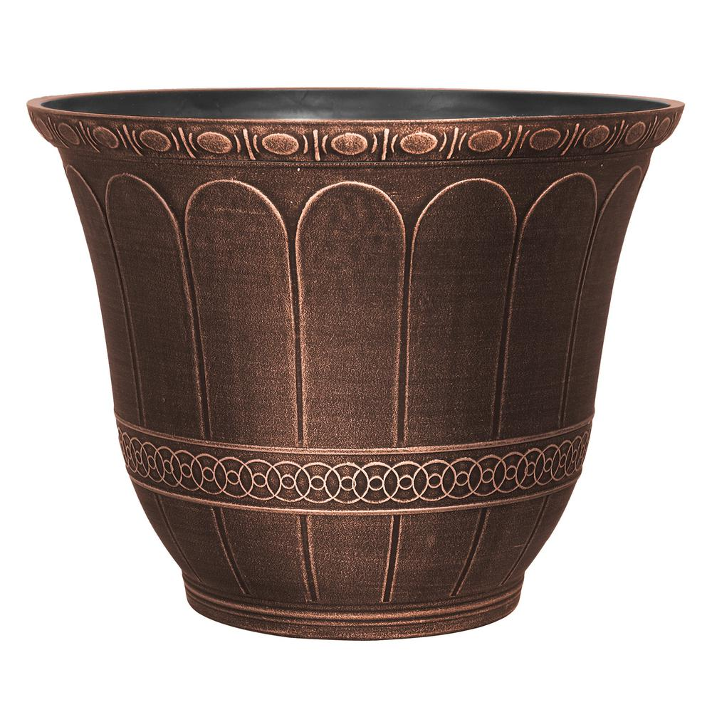 Scalloped Flare 20 in. Warm Copper Plastic Planter