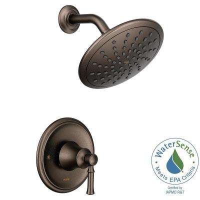 Dartmoor Posi-Temp Rain Shower 1-Handle Shower Only Faucet Trim Kit in Oil Rubbed Bronze (Valve Not Included)