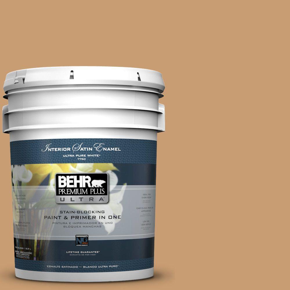 BEHR Premium Plus Ultra 5-gal. #S270-5 Gingersnap Satin Enamel Interior Paint
