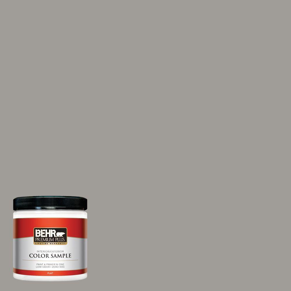 8 oz. #BNC-17 Casual Gray Flat Interior/Exterior Paint and Primer in