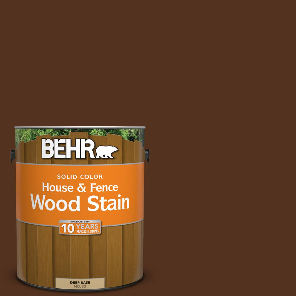 BEHR 1 gal. #SC-123 Valise Solid Color House and Fence Wood Stain