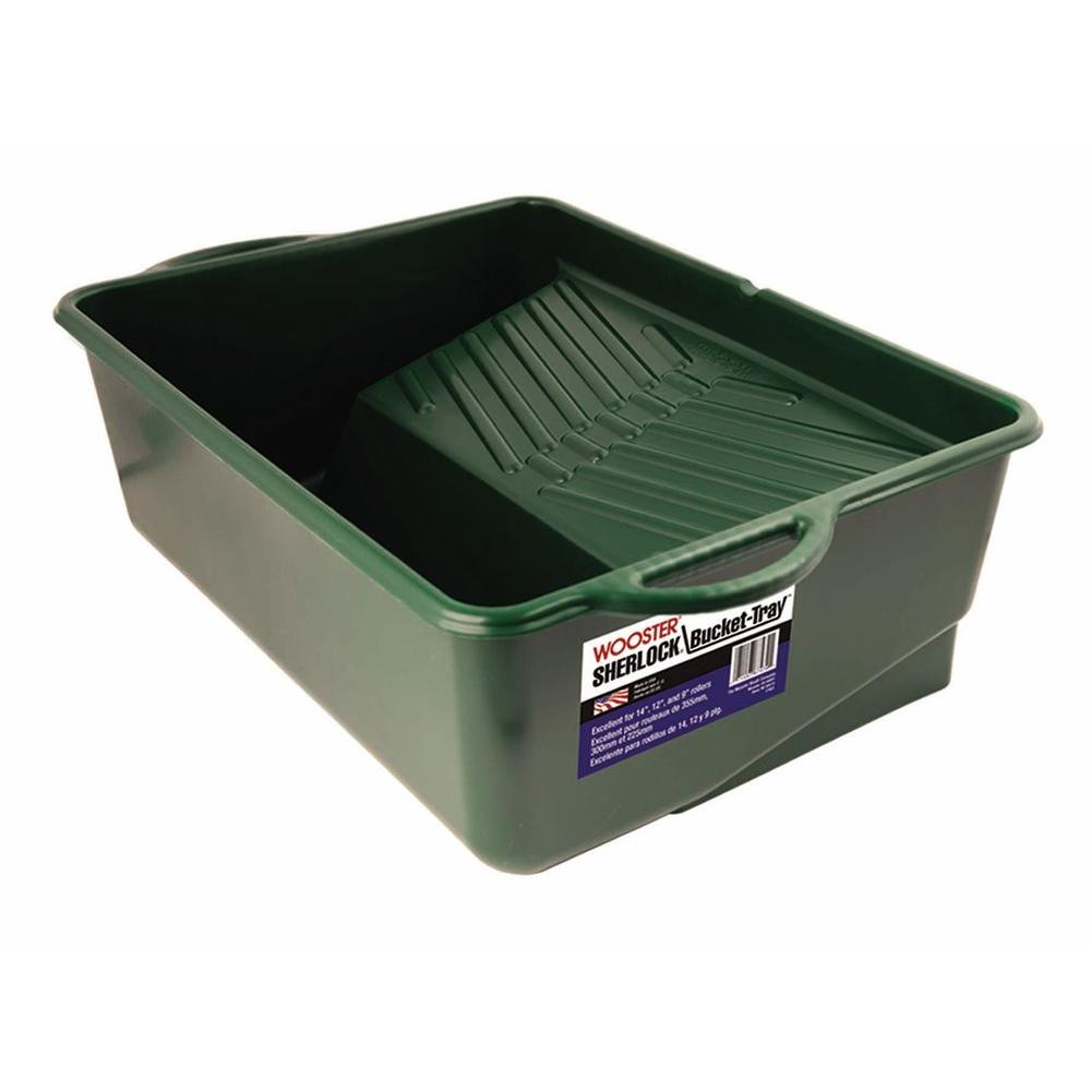 1-Gal 14 in. Plastic Sherlock Bucket Tray