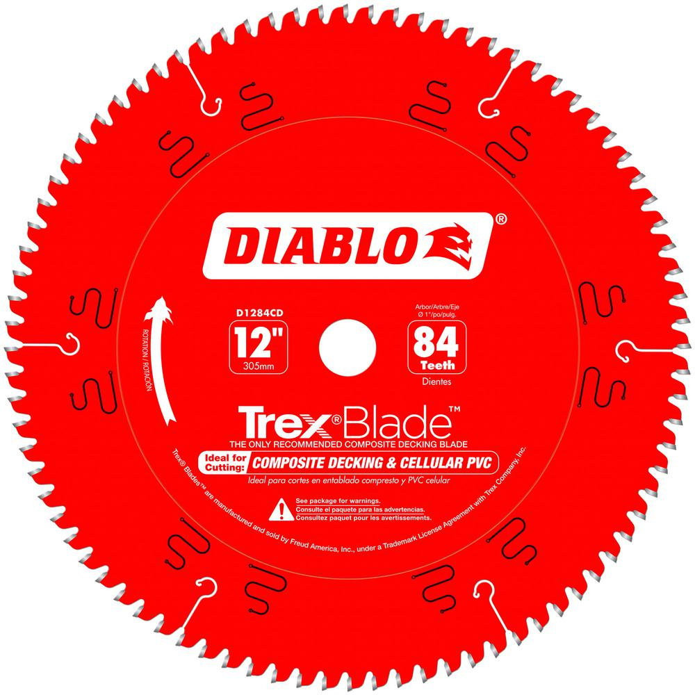 Diablo 12 in. x 84-Tooth Trex/Composite Material Cutting Saw Blade