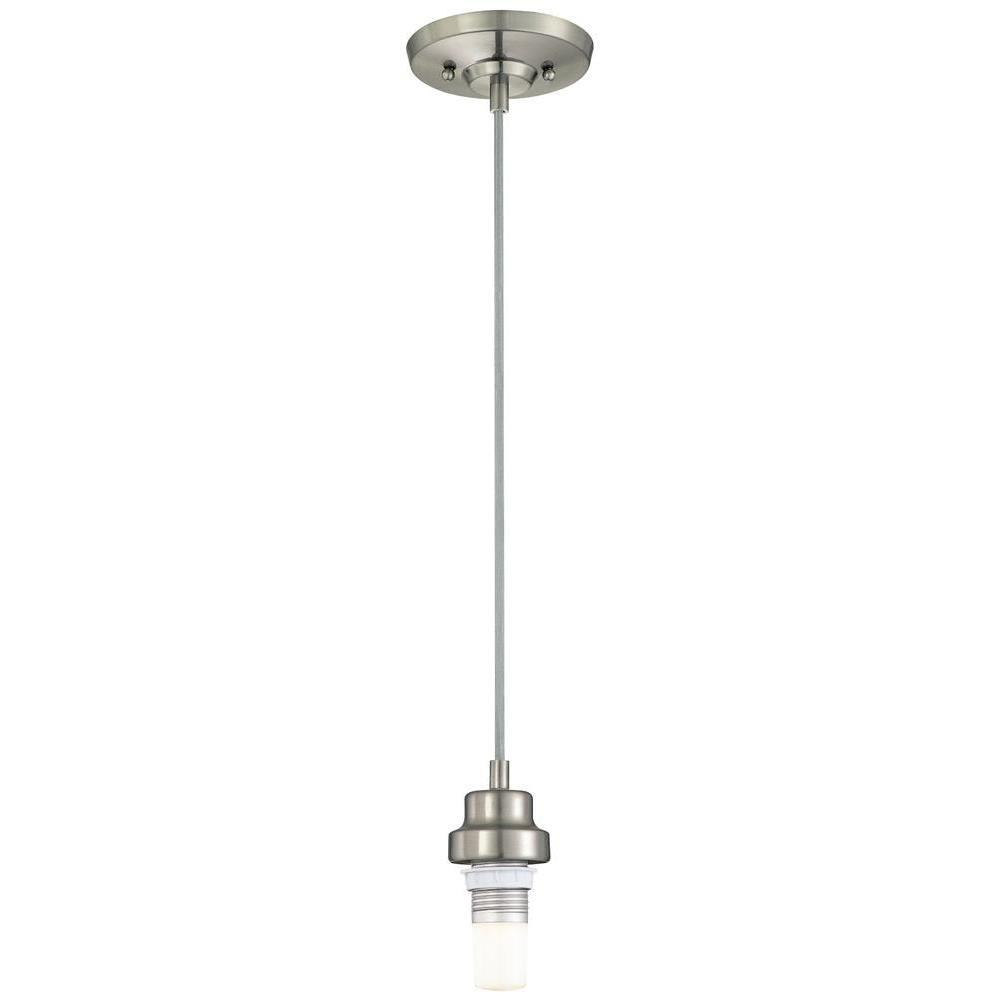 Westinghouse Brushed Nickel Adjustable Dimmable LED Mini Pendant - Westinghouse Brushed Nickel Adjustable Dimmable LED Mini Pendant