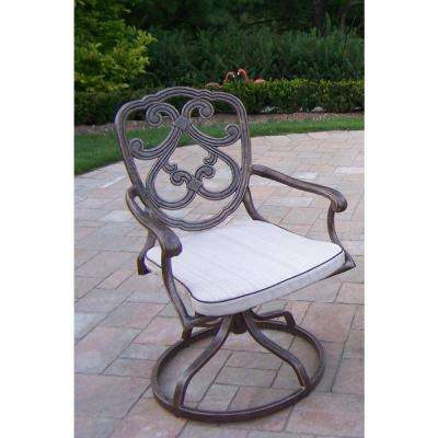 Pacifica Aluminum Outdoor Dining Chair with Beige Cushion