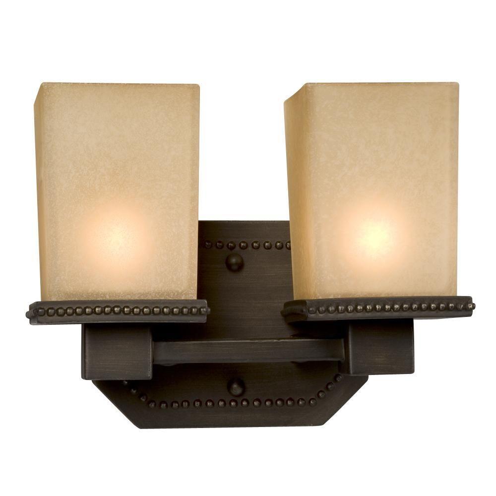 Filament Design Negron 2-Light Vintage Bronze Halogen Bath Vanity