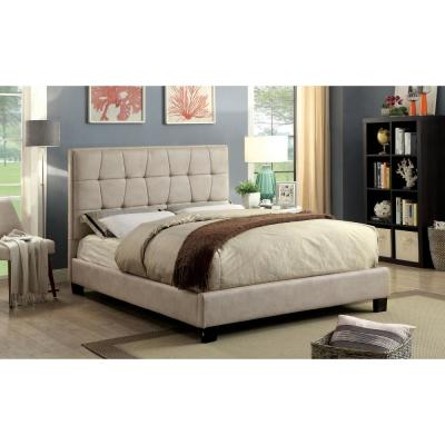 Hyadum Cal.King Bed in Beige finish