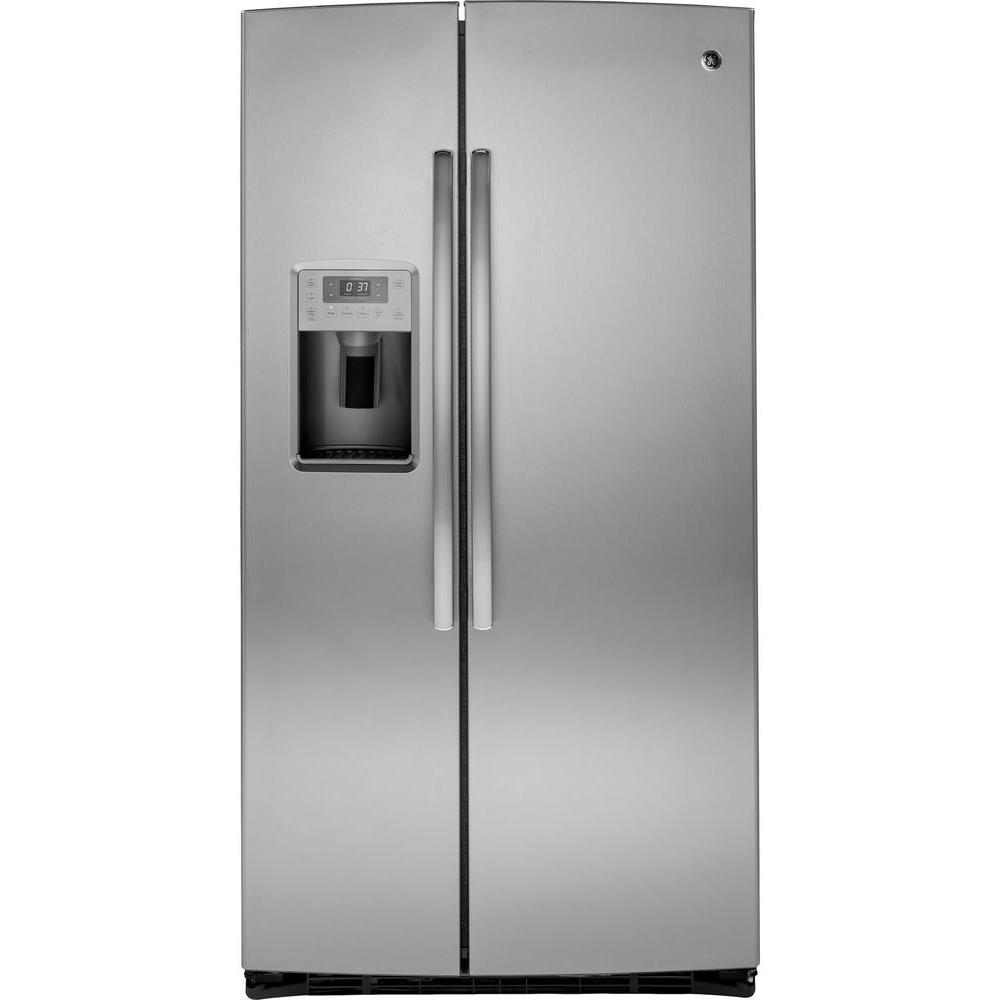 GE Profile 25.9 cu. ft. Side by Side Refrigerator in Stainless Steel