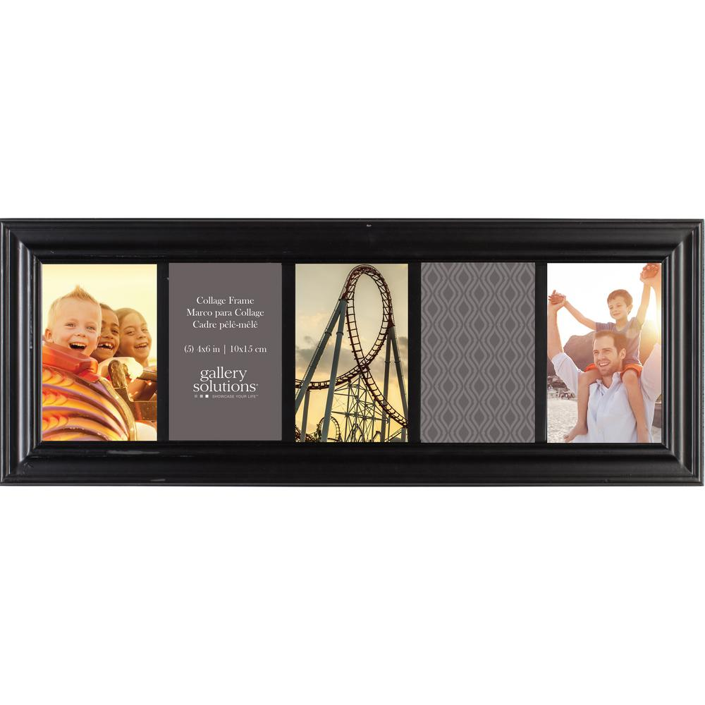 Pinnacle 5-Opening 4 in. x 6 in. Picture Frame-08FW228E - The Home Depot