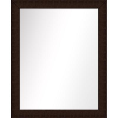 Medium Rectangle Brown Art Deco Mirror (31.5 in. H x 25.5 in. W)