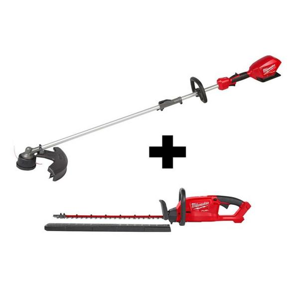 M18 FUEL 18-Volt Lithium-Ion Brushless Cordless QUIK-LOK String Trimmer and Hedge Trimmer Combo Kit (2-Tool)