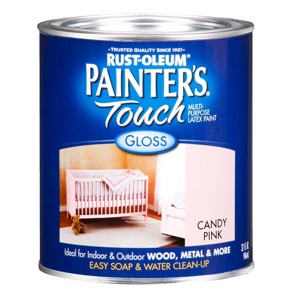 Rust-Oleum Painter's Touch 32 oz. Ultra Cover Gloss Candy Pink General Purpose Paint (Case of 2)