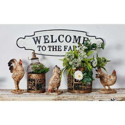 WELCOME TO THE FARM Iron Decorative Sign