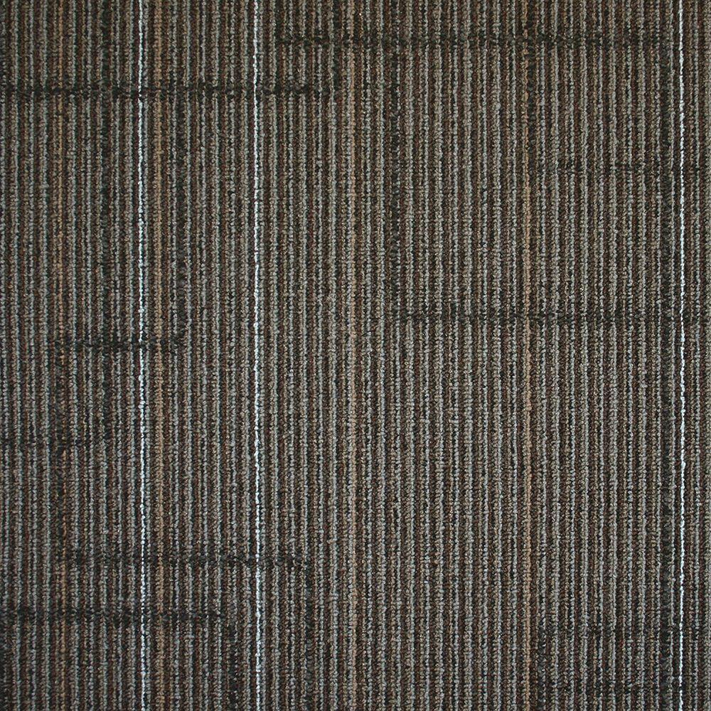 Ellis Graphite Loop 19.7 in. x 19.7 in. Carpet Tile (20 Tiles/Case)
