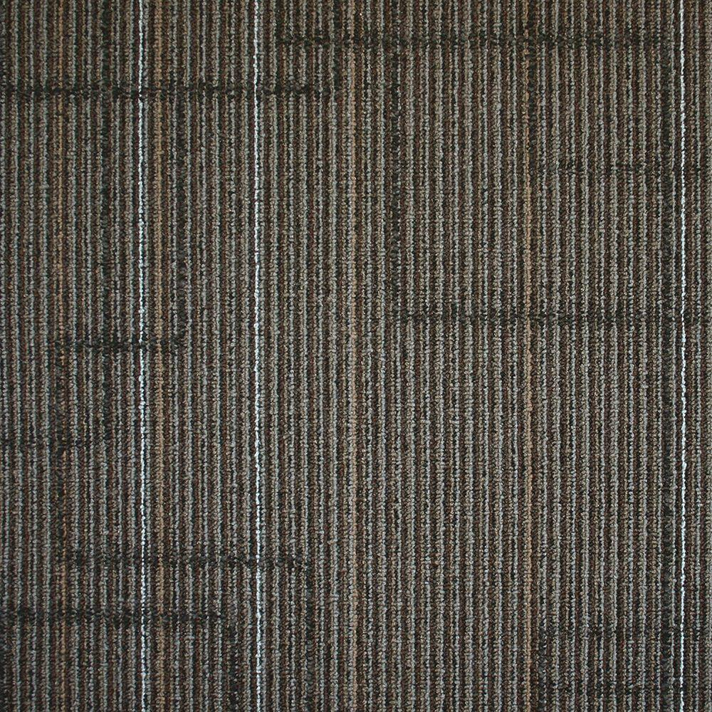 null Ellis Graphite Loop 19.7 in. x 19.7 in. Carpet Tile (20 Tiles/Case)