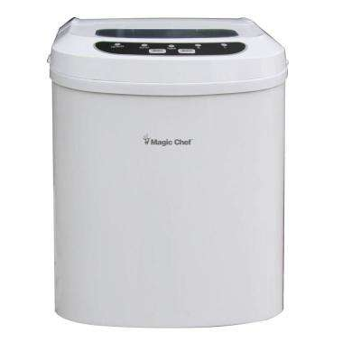 27 lb. Portable Countertop Ice Maker in White