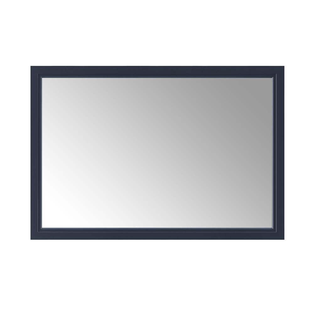 Home Decorators Collection Sandon 46 in. x 30 in. Single Framed Wall Mirror in Midnight Blue