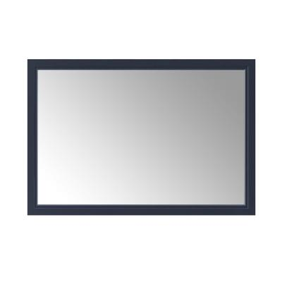 46.00 in. W x 30.00 in. H Framed Rectangular  Bathroom Vanity Mirror in Midnight Blue