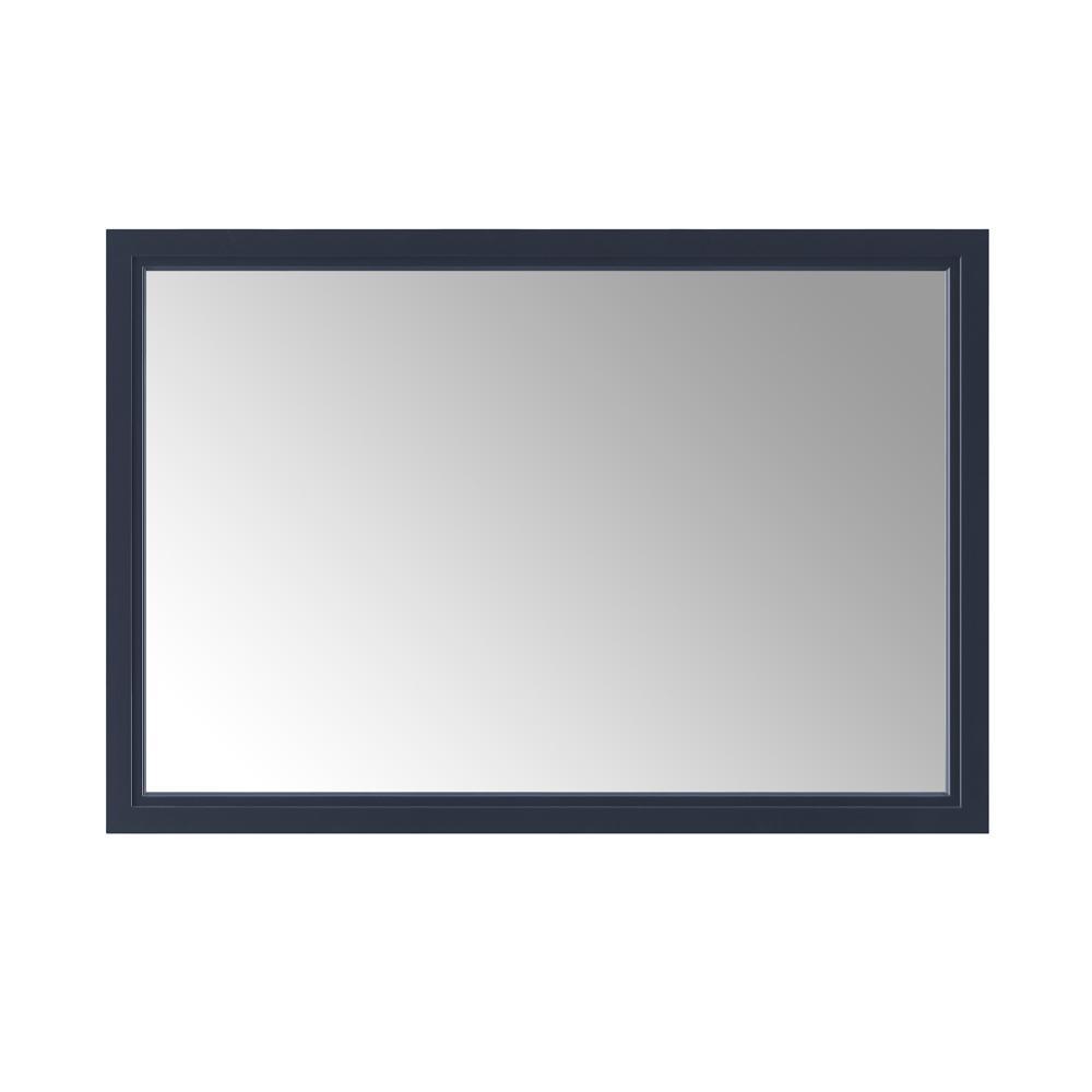 46.00 in. W x 30.00 in. H Framed Rectangular  Bathroom Vanity Mirror in Midnight Blue